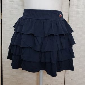 Hollister Navy Ruffle Tiered Mini Skirt